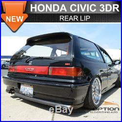 SALES! Fit 88-91 Honda Civic Ikon 2Pc Rear Bumper Lip
