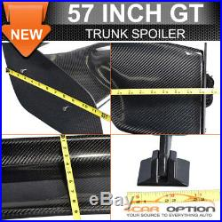 SALES! Fit Nissan 57 Inch 3-D GT JDM Real Carbon Fiber Deck Trunk Spoiler Wing