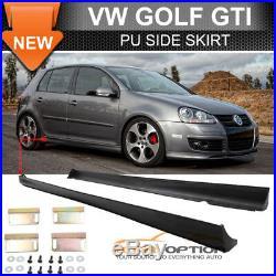 SALES! Fits 06-09 VW Golf GTI Mkv Mk5 Mk6 Side Skirts Lip V-Style PU