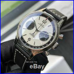 SALESeagull Sugess ST1901 Panda White Chronograph Sapphire, Display Back, 1963