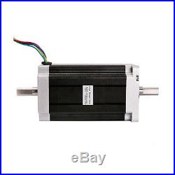 SALE! 4Axis Nema34 stepper motor 1600oz. In Dual Shaft& DRIVER CNC controller kit