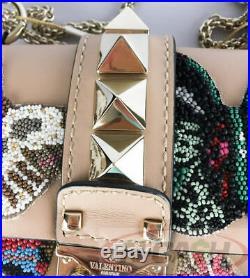 SALE! Brand New AUTHENTIC $3295 VALENTINO 2017 Garavani Glam Lock Butterfly Bag