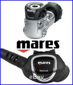 SALE Brand New, MARES Instinct Scuba Diving Regulator 1st + 2nd Stage + Hose