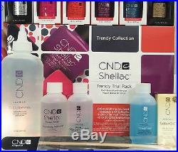 SALE! CND SHELLAC TRENDY TRIAL PACK 15-pc UV LED Soak Off Gel Polish Gift Set