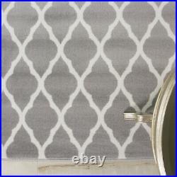 SALE Cheap Discount Neutral Trellis Silver Grey Living Room X Large Runner Rug