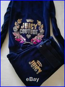 SALE NWT Juicy Couture 100% Velour Tracksuit Top Pants NAVY BLUE S M L 6 8 10 12