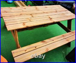 SALE! PUB! Table and Bench Set Picnic Wooden Outdoor 160cm 6 seats ADULT