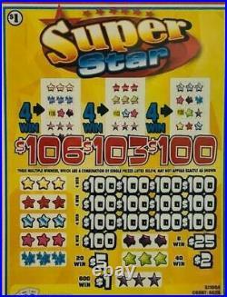 SALE- Pull Tab Ticket SUPER STAR HUGE $$ PROFIT FREE Shipping