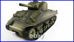 SALE Remote Control USA WW2 Sherman RC Smoke Sound 2.4G Army Battle Tank Model