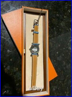 SALE! SAVE 80%! BRAND NEW Hermes Heure H ronde watch for women, blue strap