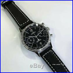 SALE Seagull Sugess ST1901 Panda Black Chronograph Sapphire, Display Back, 1963