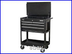 STORAGE SALE Heavy Duty Mobile Tool Parts Trolley 4 Drawers & Lockable Top Black