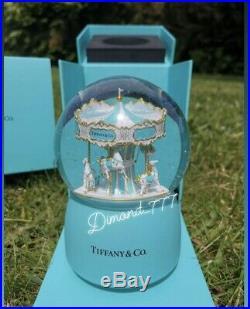 SUPER SALEBrand New Tiffany And Co VIP Gift Music Carousel Snow Globe