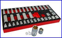 Sale Britool Hallmark 3/8 Drive Socket Set With Standard & Deep Sockets 6-2