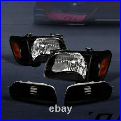 Sale For 2001-2004 Tacoma Black Headlights withAmber Corner & Signal Lamps Nb 6Pc