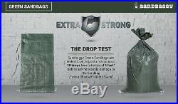 Sandbaggy 300 Green Empty Sandbags For Sale 14x26 Sandbag Sand Bags Bag Poly