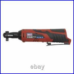 Sealey Cordless Ratchet Wrench Body Only 3/8 Drive 12V Heavy Duty LED Indicator