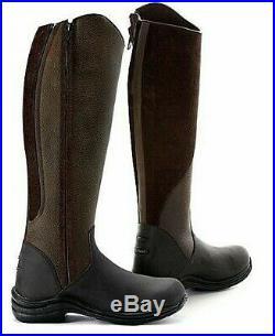 TOGGI LEATHER RIDING BOOTS QUARTZ Long Zip Ladies Mens Nubuck SALE v cheap