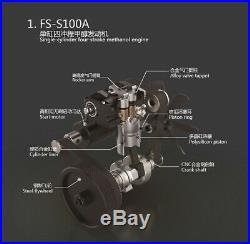 TOYAN Engine FS-S100AS SALE! Complete 4 Stroke Kit for RC Ships from the USA