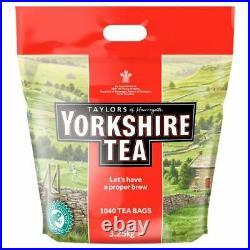 Taylors of Harrogate Yorkshire Tea 1040 Tea Bags 3.25kg -NOT FOR SALE