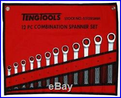 Teng Tools JULY SALE 6512 12Pce Ratchet Combination Spanner Wrench Set 8 19mm