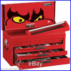 Teng Tools SPRING SALE 140pce Toolkit Red 6 Drawer Toolbox Top Box Tool Chest