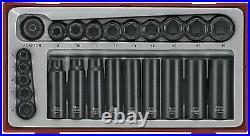 Teng Tools T4 SALE! 24Pce Impact Socket Set 1/4 3/8 Drive Regular Deep in Case