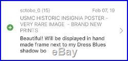 Usmc Historic Insignia Poster Very Rare Image Brand New Prints 20% Off Sale