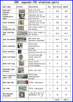 VITAVON Aluminum CNC upgrade parts set for Traxxas UDR 17 group sale