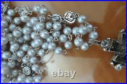 Virgin Saints & Angels Grey Pearl Magdalena Rosary Brand New with Tags on Sale