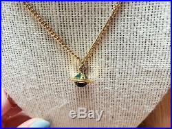 Vivienne Westwood gold orb with forest Green Orb Necklace. Brand New Sale