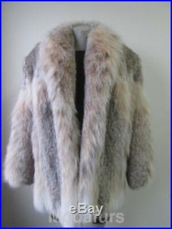 Women's Sz L 12/14 Brand New Natural LYNX Fur Coat Jacket CLEARANCE SALE