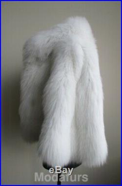 Women's Sz S Brand New White Fox Fur Jacket Coat CLEARANCE SALE Ladies