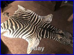 ZEBRA SKIN RUG (GENUINE) not Cow Skin. Brand new. Tanned Zebra skins for sale